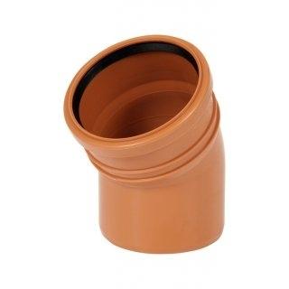 Kolano kanalizacyjne zewnętrzne 160mm/15° PVC