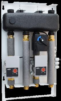 Mix-box 1 z grupami SA 83 i SMT 83 z pompami Grundfos UPM3 AUTO L 15-70