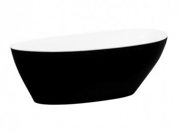 Wanna wolnostojąca 160x70 GOYA XS Black&White Besco
