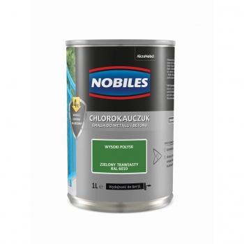 Chlorokauczuk do metalu i betonu 1L Zielony trawiasty NOBILES