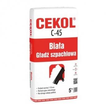 Gładź szpachlowa biała C-45 5kg CEKOL