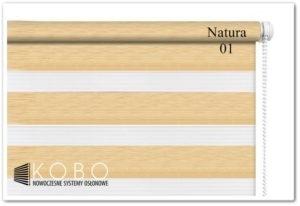 Roleta 'Dzień-Noc' 62x150cm Mini Natura 01 KOBO