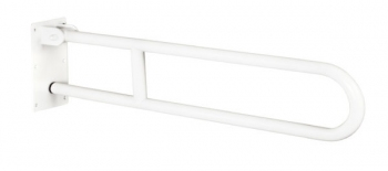 Uchwyt łazienkowy uchylny 70 cm biały