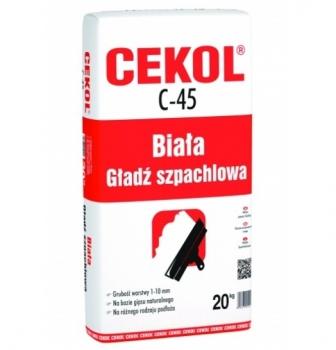 Gładź szpachlowa biała C-45 20kg CEKOL