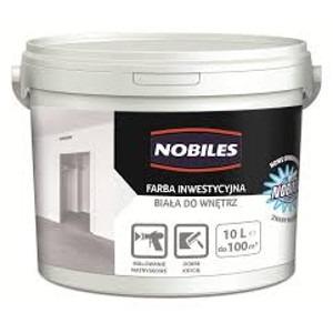 Farba inwestycyjna Nobiles 10L biała do wnętrz