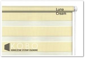 Roleta 'Dzień-Noc' 52x150cm CREAM Mini Luna KOBO