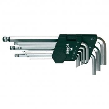 Zestaw kluczy imbusowych kulistych Topex 35D957