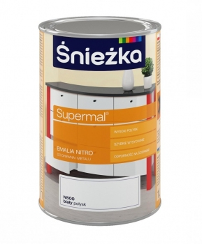 Emalia Nitro SUPERMAL biała 1L ŚNIEŻKA