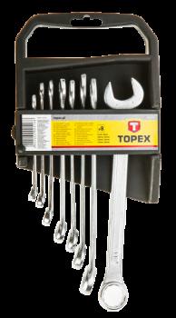 Zestaw kluczy płasko-oczkowych 8 szt. Topex 35D374