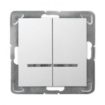 Wyłącznik podwójny z podświetleniem IMPRESJA ŁP-2YS/m/00