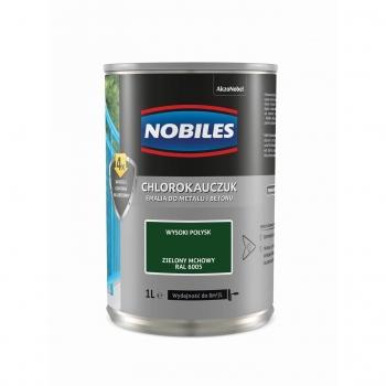 Chlorokauczuk do metalu i betonu 1L Zielony mchowy NOBILES
