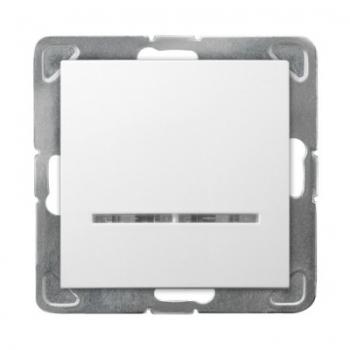 Wyłącznik pojedynczy z podświetleniem IMPRESJA ŁP-1YS/m/00