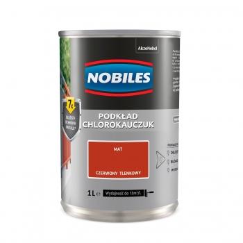 Chlorokauczuk do metalu i betonu 1L Czerwony tlenkowy NOBILES