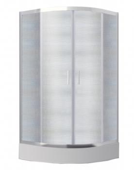 Kabina półokrągła 80x80x165 MODERN mrożone szkło Besco