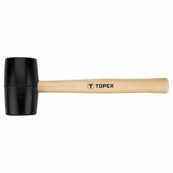 Młotek gumowy 0,45 kg drewniany trzon TOPEX