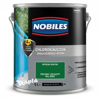 Chlorokauczuk do metalu i betonu 1L Zielony liściasty NOBILES