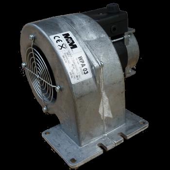 Wentylator WPA 03K dmuchawa kotła pieca 3-biegowy z klapą