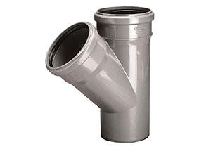 Trójnik PVC-U 75x50/45 Wavin