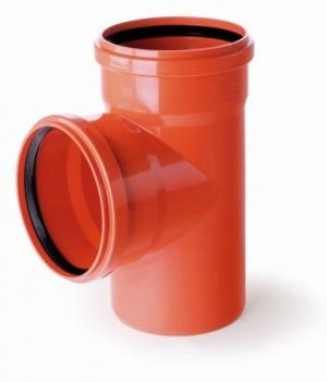 Trójnik kanalizacyjny przelotowy 160x160mm/87° PVC