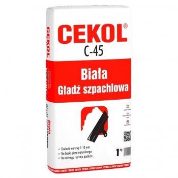 Gładź szpachlowa biała C-45 1kg CEKOL