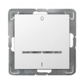 Przełącznik dwubiegunowy z podświetleniem IMPRESJA ŁP-11YS/m/00