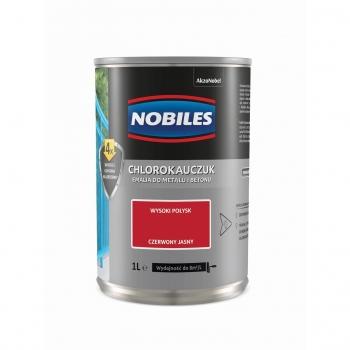 Chlorokauczuk do metalu i betonu 1L Czerwony jasny NOBILES