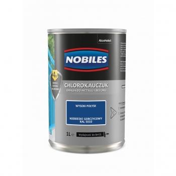 Chlorokauczuk do metalu i betonu 1L Niebieski gorczycowy NOBILES