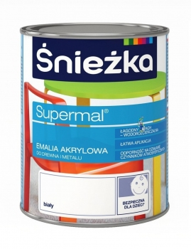 Emalia Akrylowa SUPERMAL biała 0,8L ŚNIEŻKA