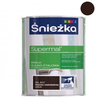Emalia Olejno-Ftalowa SUPERMAL brąz czekoladowy 0,8L ŚNIEŻKA