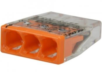 Złączka instalacyjna uniwersalna 3x0,5-2,5 WAGO 2273-203