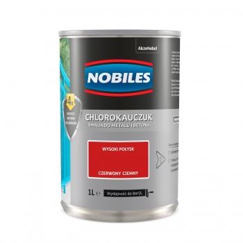 Chlorokauczuk do metalu i betonu 1L Czerwony ciemny NOBILES
