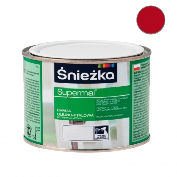 Emalia Olejno-Ftalowa SUPERMAL czerwona 0,2L ŚNIEŻKA