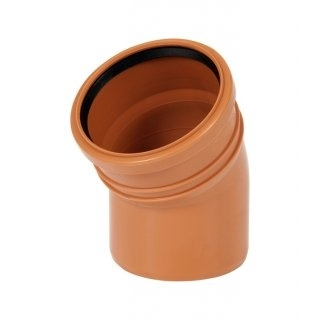 Kolano kanalizacyjne zewnętrzne 200mm/15° PVC