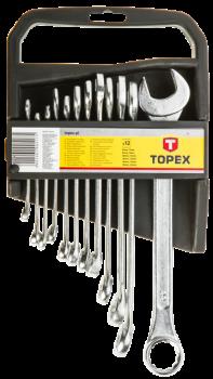 Zestaw kluczy płasko-oczkowych 12 szt. Topex 35D375