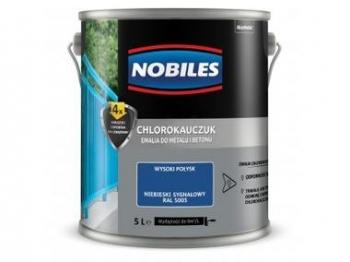 Chlorokauczuk do metalu i betonu 1L Niebieski sygnałowy NOBILES