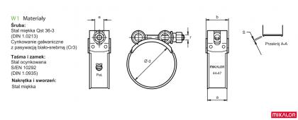 Obejma, opaska zaciskowa ∅80-85 W1 Super