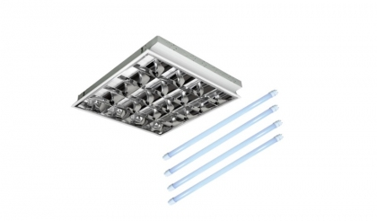 Oprawa rastrowa podtynkowa 4x9W LED