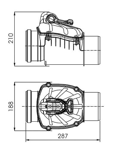 Zasuwa burzowa jednoklapowa Fi110