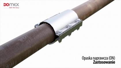 Opaska naprawcza do rur DN80 (97-102) żeliwo DOMEX