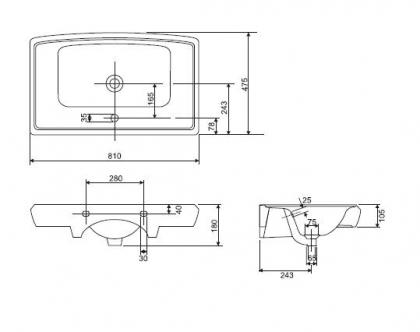 Miska stojąca EKO Cersanit K 07-016