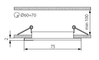 Oprawa sufitowa punktowa NAVI satynowy nikiel CTX-DS10-SN KANLUX