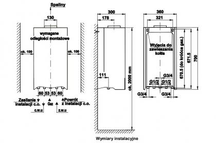 Kocioł gazowy 13kW MINIMAX ELEGANCE ECO TERMET