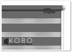 Roleta 'Dzień-Noc' 43x150cm GRAPHITE Mini Luna KOBO