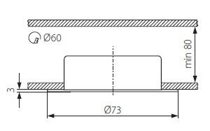Oprawa meblowa punktowa GAVI miedź CT-2116B-AN KANLUX