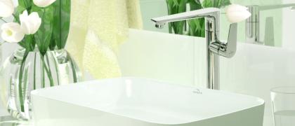 Umywalka nablatowa prostokątna ATE aranżacja