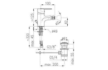 Bateria bidetowa Cyrkon 587-015-00 sposób montażu
