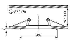Oprawa halogenowa stała ARGUS chrom mat CT-2114-C/M KANLUX